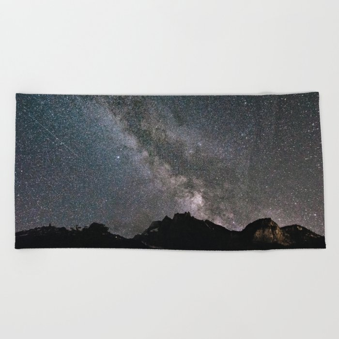 Night in Switzerland Beach Towel
