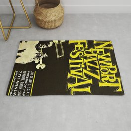 1960 Newport Jazz Festival Vintage Advertisement Poster Newport, Rhode Island Rug