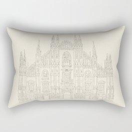 Cathedral of Milan Rectangular Pillow