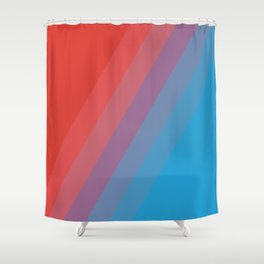 Hot and Cold Pattern Shower Curtain