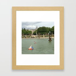 Toys Boats in the Fountain Framed Art Print