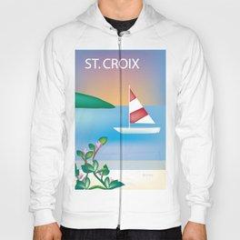 St. Croix, Virgin Islands- Skyline Illustration by Loose Petal Hoody