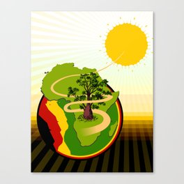 Africa Brasil from Sun to Earth Canvas Print