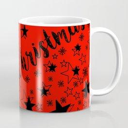 Merry Christmas (black/red) Coffee Mug