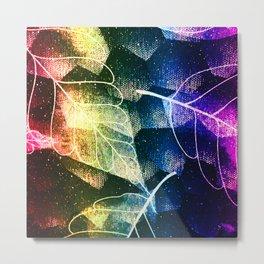 Leaves In Rainbow Colors Metal Print