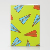 planes Stationery Cards featuring Paper Planes by evannave