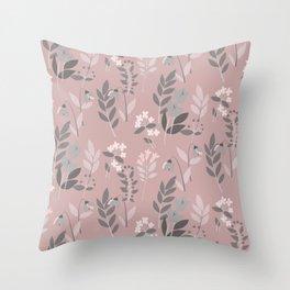 Pink sixty nine Throw Pillow