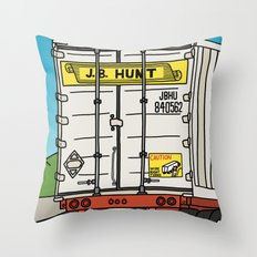 J.B. Hunt Throw Pillow