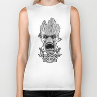 gym Biker Tanks featuring GROOT GYM by ADAMLAWLESS