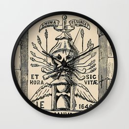Sun dials and roses of yesterday Wall Clock