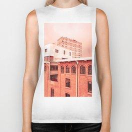 Red City Buildings Biker Tank