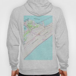 Vintage Map of Ocracoke North Carolina (1948) Hoody