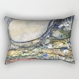 Dancing Dunes I - Mixed Media Beeswax Encaustic Modern Fine Art, 2015 Rectangular Pillow