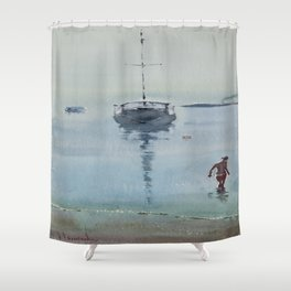 Morning at Sea Shower Curtain