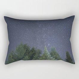 Pine trees with the northern michigan night sky Rectangular Pillow