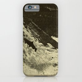 Goode - American Fishes (1888) - Leaping Salmon iPhone Case