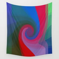 bubblegum Wall Tapestries featuring Bubblegum Swirl by writingoverashes