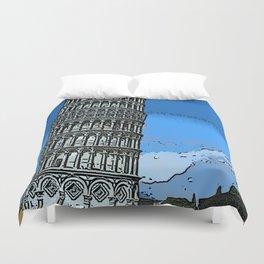 Leaning tower of Pisa bywhacky Duvet Cover