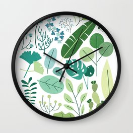 Botanical Chart Wall Clock
