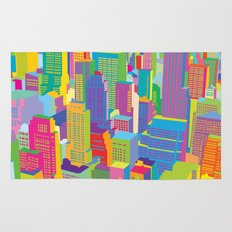 Cityscape windows Rug