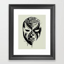 SOLAR SQUAD MAN 3 Framed Art Print