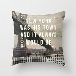 Manhattan movie quote art print Throw Pillow