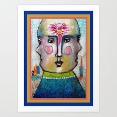 Three Faces of Beauty Art Print
