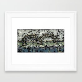 Bridge Over Traveled Waters Framed Art Print