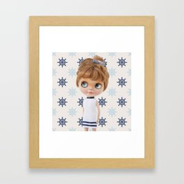 NAVY BLYTHE DOLL CHIO BY ERREGIRO Framed Art Print