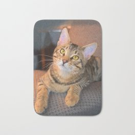 Cute Bengal Kitty Bath Mat