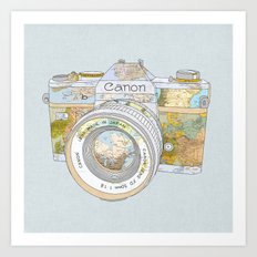TRAVEL CAN0N Art Print