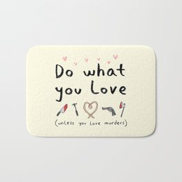 Motivational Poster Bath Mat