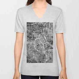Nashville Tennessee City Map Unisex V-Neck