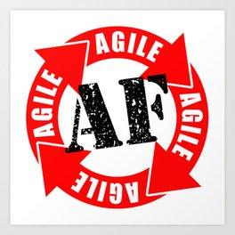 Agile AF Art Print