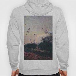 Bird Silhouettes On The Fields / Glitch Utopia Hoody