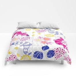 Paint me Pink - Blue Tounge Lizards Comforters