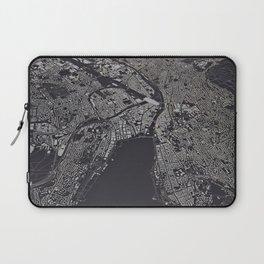Zürich city map Laptop Sleeve