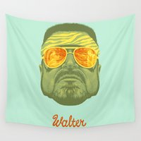 lebowski Wall Tapestries featuring The Lebowski Series: Walter by Bubblegun