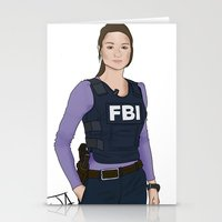 allison argent Stationery Cards featuring Special Agent Argent by Argent Arts