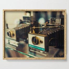Vintage Instant Cameras Serving Tray