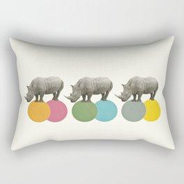 Rambling Rhinos Rectangular Pillow