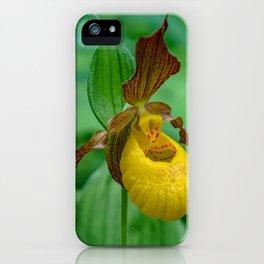 Yellow Lady's Slipper iPhone Case