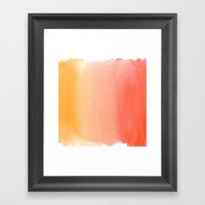Sandy Sunset Framed Art Print