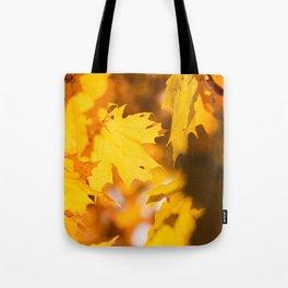 Golden Fall Leaves Tote Bag