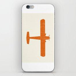 Vintage Orange Airplane Art Print iPhone Skin