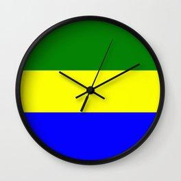 Flag of Gabon Wall Clock