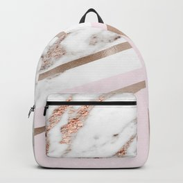 Geometric marble - luxe rose gold edition I Backpack