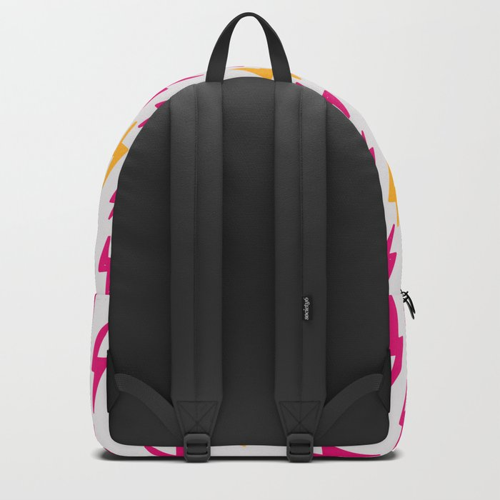 Retro Hand Drawn Lightning Pattern Backpack