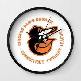 Chicago Sam's Orioles - Orange Logo Wall Clock