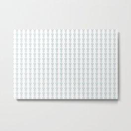 Star Flower Pattern - JUSTART © Metal Print